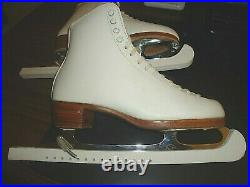 Riedell Womens Silver Star 355 A, WHT, Figure Skates with Wilson Blades, 2320, #8