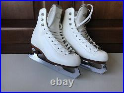 Riedell Youth Girls Model 25 Size 12 M Figure Skate Boots Upgraded MK Blades EUC
