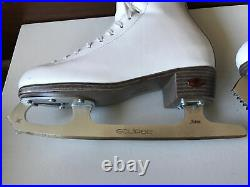 Riedell Youth Girls Model 33 Sz 3 Figure Skate Boot Upgraded Eclipse Astra Blade