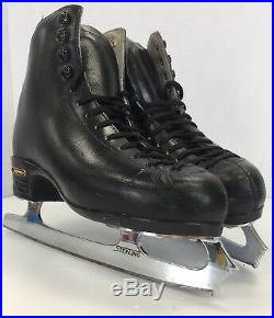 Risport RF4 Leather Women's Figure Skates Size 6 ice skate with Sterling Blades
