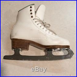 SP-Teri Figure Skating Boots Size 6 White MK Professional Freestyle Blades