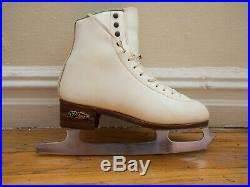 SP-Teri Size 7A White Figure Skate Boots with MK Club 2000 10 Blades