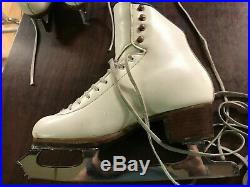 SP Teri figure ice skates size 6 A with Pattern 99 blades Superfeet insoles