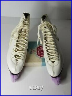 SP Teri figure ice skates size 8 A 550 with Sheffield blades Super Deluxe