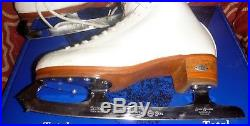 Size 7.5 B-A 7 1/2 Riedell 875 Figure Skates Gold Seal Blades size 10 1/4