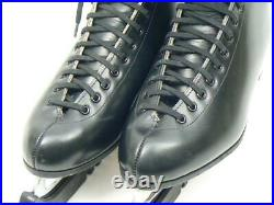 USA RIEDELL 220 Black Men Figure Ice Skates with Wilson Sheffield Blades size 8