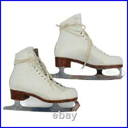 VTG Riedell Red Wing Ice Figure Skates with Coronation Ace 9.75 Blades Size 5.5 B