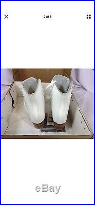 Vintage Riedell Figure Skating Boots Size 37.5 With John Wilson Blades