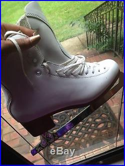Women Jackson Synchro Figure Skating Boots and Blades Size 9.5B
