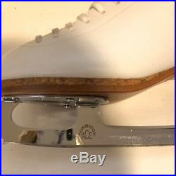 Womens Riedell Silver Star Figure Skates Sz 7 CB WithCoronation Ace Blades, Mint