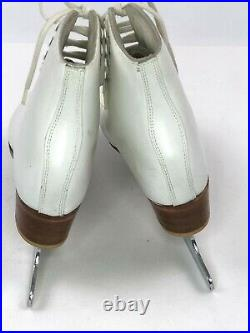 Womens Size 6 W LS Riedell Ice Skates With John Wilson Excel Blades White